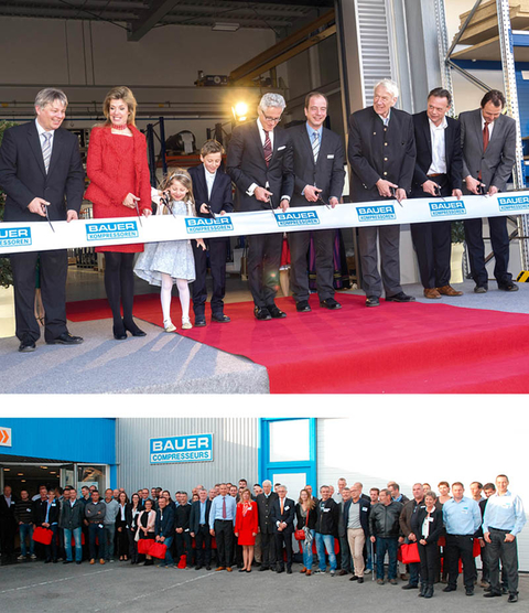 2015 - New home for BAUER KOMPRESSOREN GmbH, Munich and BAUER COMPRESSEURS SAS (France) 30th Anniversary