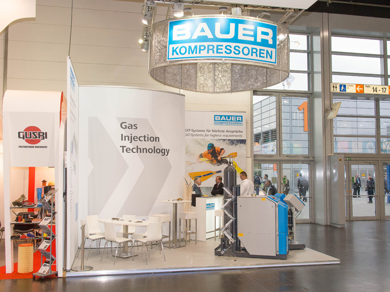 Exhibition stand for BAUER KOMPRESSOREN GmbH